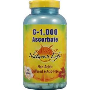 Nature's Life C-1000 Ascorbate 250 Tablets