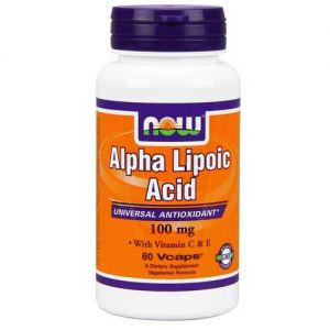 Now Foods Alpha Lipoic Acid 100 Mg 60 Vegetable Capsules