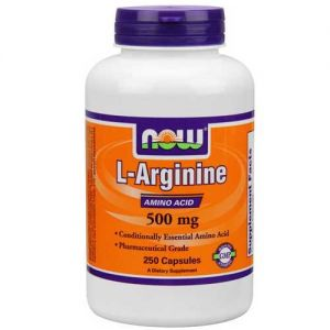 Now Foods L-Arginine 500 Mg 250 Capsules
