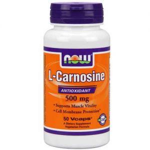 Now Foods Carnosine 500 Mg 50 Vegetable Capsules