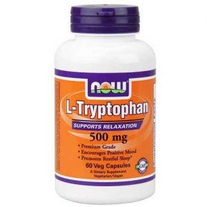 Now Foods L-Tryptophan 500 Mg 60 Vegetable Capsules