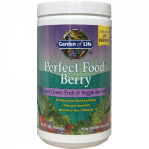 Garden of Life Perfect Food Berry Super Green Fruit and Veggie Formula 240 grams