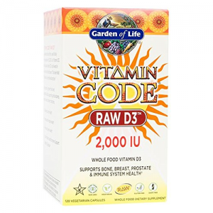 Garden of Life Vitamin Code Raw D3 2000IU