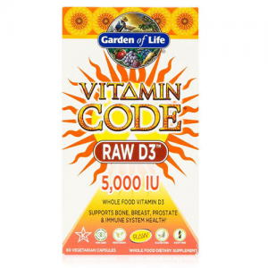 Garden of Life Vitamin Code Raw D3 5000IU 60 Caps