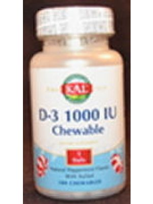 Kal D-3 1000 IU Peppermint Flavored 100 Chews
