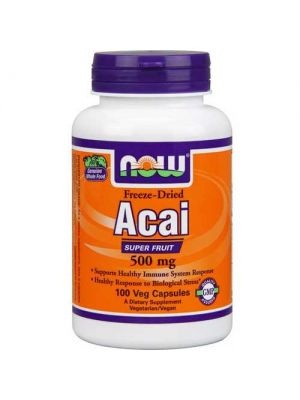 Now Foods Acai 500 Mg 100 Vegetable Capsules