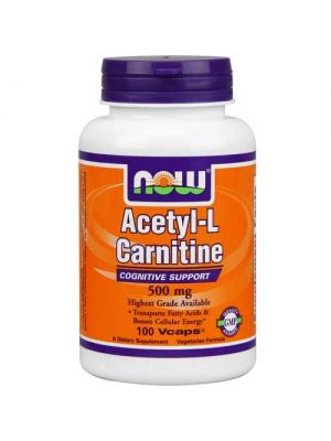 Now Foods Acetyl L-Carn 500 Mg 100 Vegetable Capsules