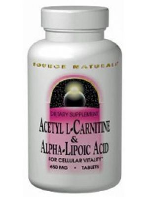 Source Naturals Acetyl L-Carnitine and Alpha Lipoic Acid 650mg 60 Tabs