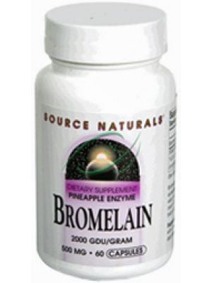 Source Naturals Bromelain 2000 GDU/gm 500mg 60 Caps