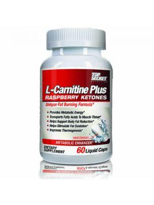 Top Secret Nutrition L-Carnitine Plus Raspberry Ketones 60 Caps