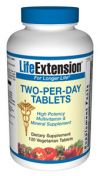 Life Extension Two-Per-Day TABS 120 Vege Tabs