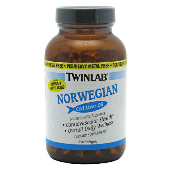 Twinlab Norwegian Cod Liver Oil 250 Softgels