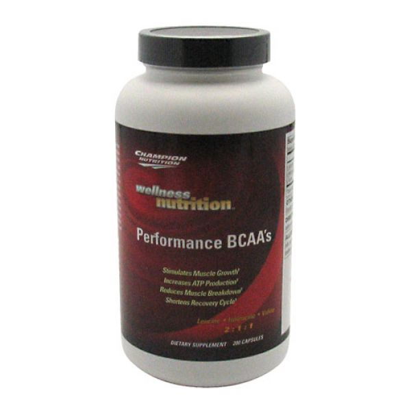 Champion Nutrition Wellness Nutrition Performance BCAAs 200 Caps