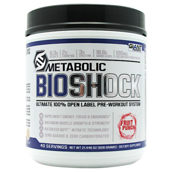 Giant Sports Products Metabolic Bioshock 40 Servings