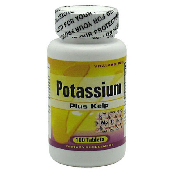 Vitalabs Potassium Plus Kelp 100 Tabs