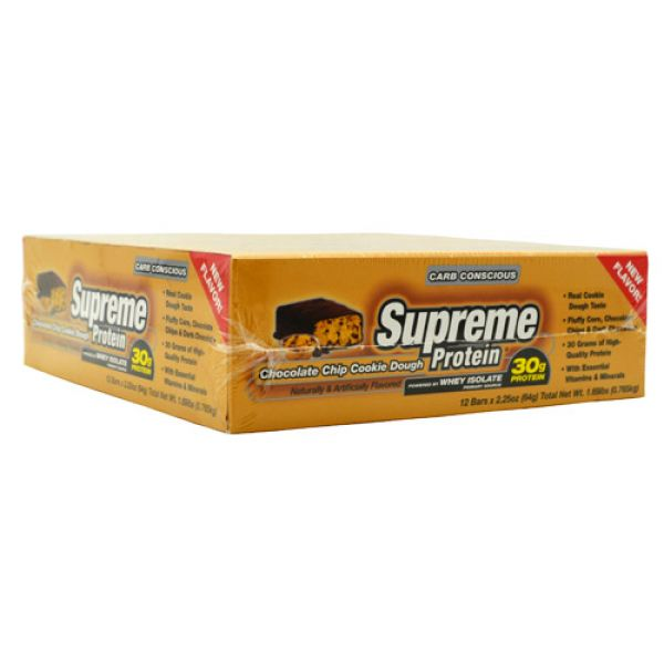 Supreme Protein Supreme Protein Bar Carb Conscious Chocolate Chip Cookie Dough 12/Box