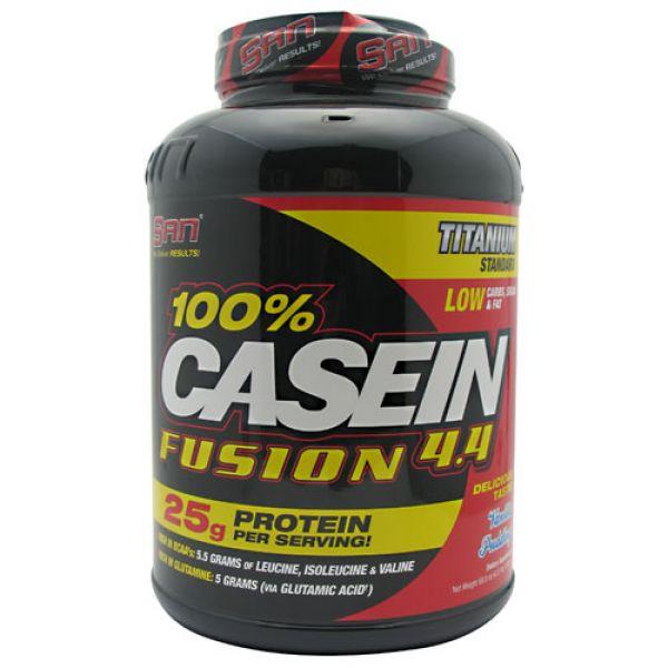 SAN 100% Casein Fusion 4.4 Vanilla Pudding 4.37 lbs - 1982 g