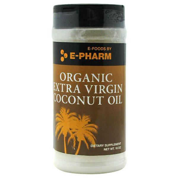 E-Pharm Organic Extra Virgin Coconut Oil  16 Oz