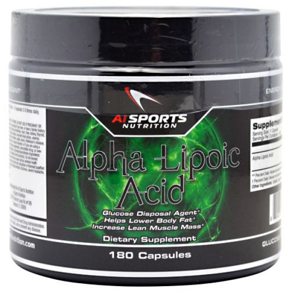 AI Sports Nutrition Alpha Lipoic Acid 180 Caps