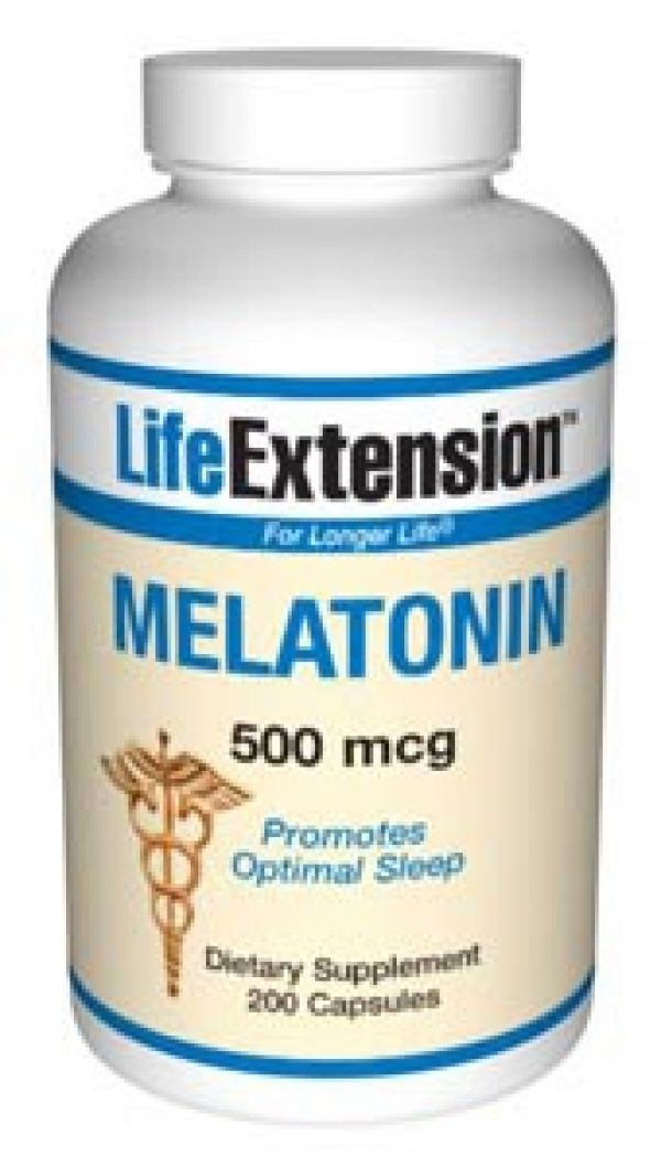 Life Extension Melatonin 500mcg 200 Caps