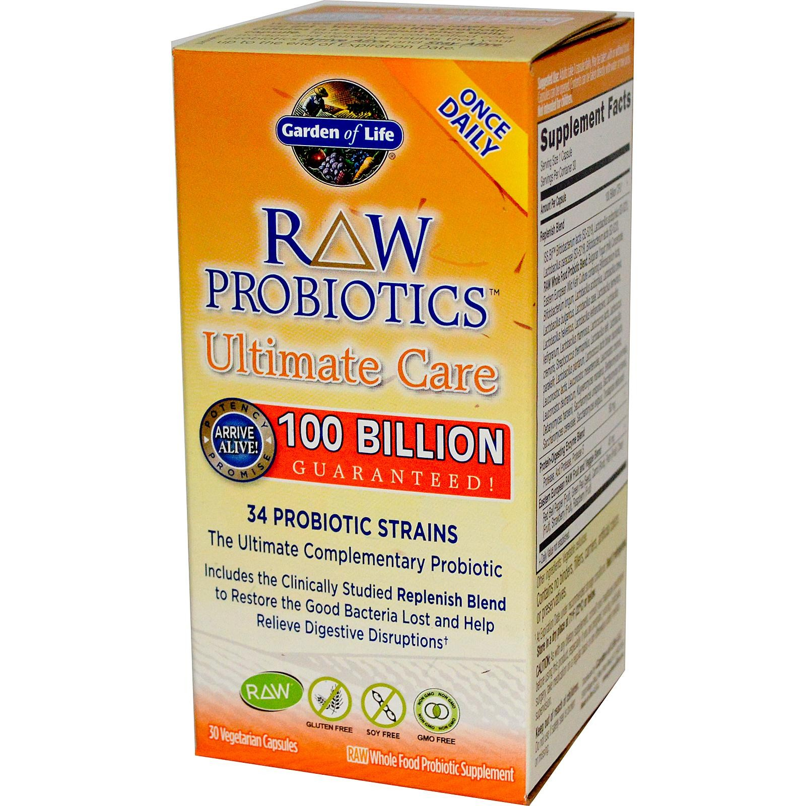 Garden Of Life Raw Probiotics Ultimate Care Digestive Care