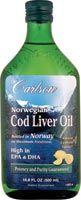 Carlson Norwegian Cod Liver Oil Omega Supplement
