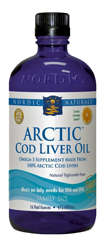 Nordic naturals arctic cod liver epa dha fish oil 16 fl oz for Cod fish nutrition