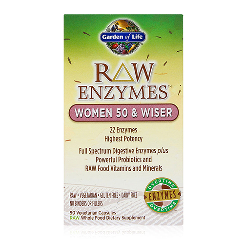 Garden Of Life Raw Digestive Enzymes Women 50 And Wiser Free Shipping