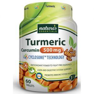 Nature's Essentials Turmeric 500mg 60 Tablets