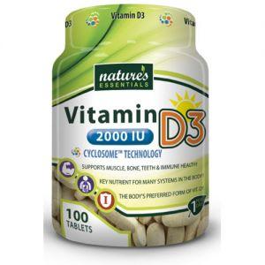 Nature's Essentials Vitamin D3 2000IU 100 Tablets