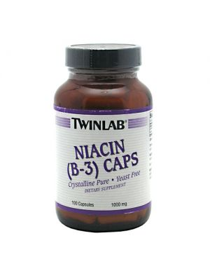 Twinlab Niacin (B-3) 1000mg 100 Capsules