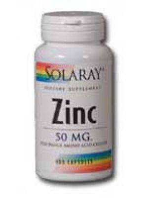 Solaray Zinc 50mg 100 Caps