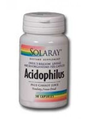 Solaray Acidophilus + Carrot Juice 60 caps