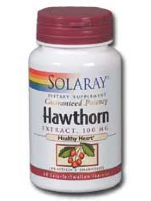 Solaray Hawthorn Extract 100mg 60 Caps
