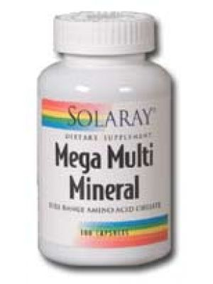Solaray Mega Multi Mineral 200 Caps