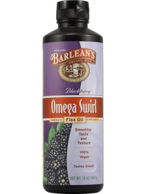 Barlean's Omega Swirl Omega-3 Flax Oil Supplement Blackberry 16 Fl Oz