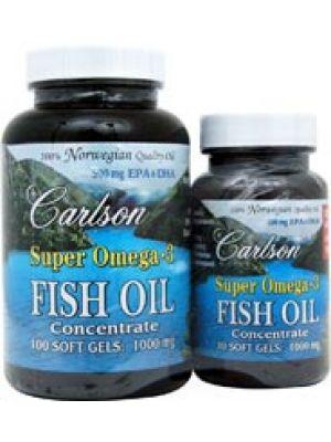 Carlson Super Omega 3 1000mg 130 Gels (100+30 Free)