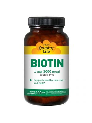 Country Life Biotin 1000mcg 100 Tabs
