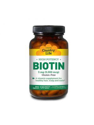 Country Life Biotin 120 vegi caps
