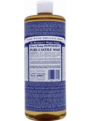 Dr. Bronner's Pure Castille Liquid Soap Peppermint 16 oz