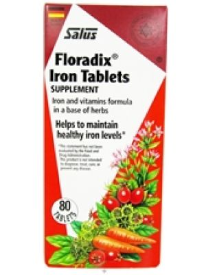 Flora (Udo's Choice) Floradix Iron + Herbs 80 Tabs