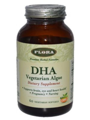 Flora (Udo's Choice) DHA Vegetarian Algae 60 Vege Softgels