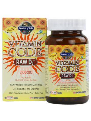 Garden of Life Vitamin Code Raw D3 2000IU