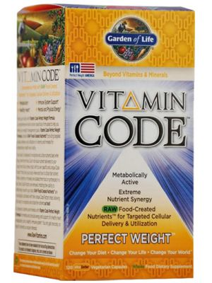 Garden of Life Vitamin Code Perfect Weight Formula 120 Vege Caps