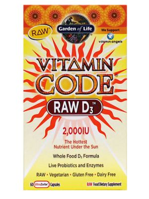 Garden of Life Vitamin Code Raw D3 2000IU 60 Caps