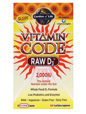 Garden of Life Vitamin Code Raw D3 2000IU 60 Caps