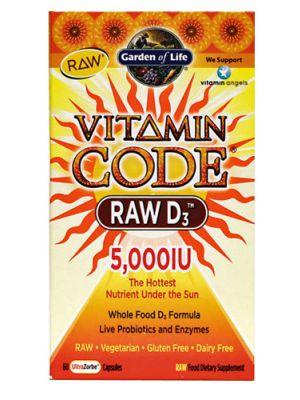 Garden of Life Vitamin Code Raw D3 5000IU 60 Caps