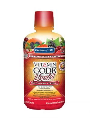 Garden of Life Vitamin Code Liquid New Fruit Punch Flavor
