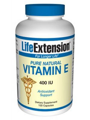 Life Extension Pure Natural Vitamin E 400 IU 100 Caps