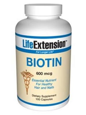Life Extension Biotin 600 mcg 100 Caps